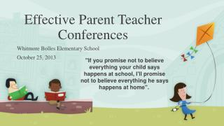 Effective Parent Teacher Conferences