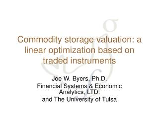 Commodity storage valuation: a linear optimization based on traded instruments