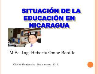 SITUACIÓN DE LA EDUCACIÓN EN NICARAGUA