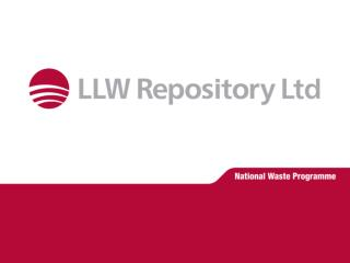 Management of the LLW National Waste Programme