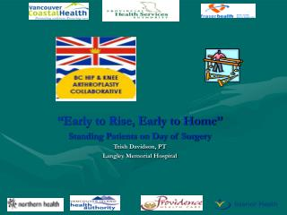 Early to Rise, Early to Home  Standing Patients on Day of Surgery Trish Davidson, PT Langley Memorial Hospital