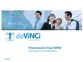 Presentación Final MPM P4CR (Project  For Cost Reduction )