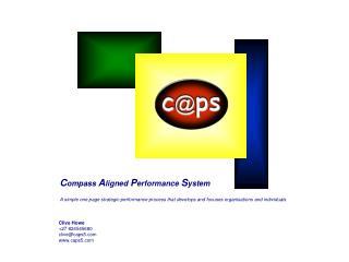 C ompass  A ligned  P erformance  S ystem