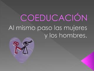 COEDUCACI�N