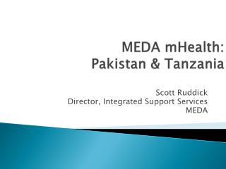 MEDA  mHealth :  Pakistan & Tanzania