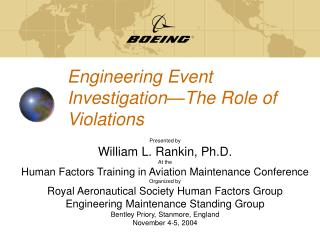 Engineering Event Investigation—The Role of Violations