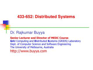 433-652: Distributed Systems