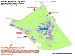 NTUA Campus at Zografou National Technical University of Athens School of Civil Engineering