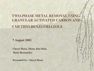 TWO-PHASE METAL REMOVAL USING GRANULAR ACTIVATED CARBON AND  5 METHYLBENZOTRIAZOLE