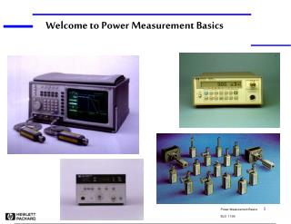 Welcome to Power Measurement Basics