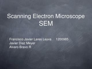 Scanning Electron Microscope SEM