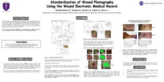 Standardization of Wound Photography  Using the Wound Electronic Medical Record