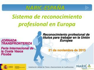 Sistema de reconocimiento profesional en Europa