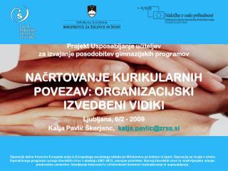 Projekt Usposabljanje učiteljev  za izvajanje posodobitev gimnazijskih programov