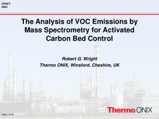 The Analysis of VOC Emissions by Mass Spectrometry for Activated Carbon Bed Control