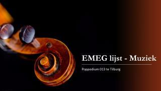 EMEG lijst - Muziek