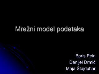 Mrežni model podataka