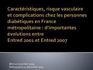 BEH 10 novembre 2009 Bibliographie 15 décembre 2009
