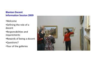 Blanton Docent Information Session 2009
