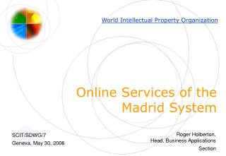 Online Services of the Madrid System