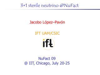 3+1 sterile neutrino @NuFact