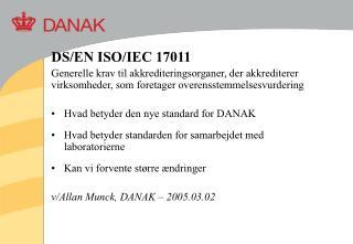 DS/EN ISO/IEC 17011