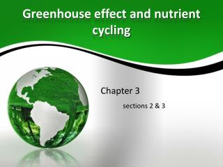 Greenhouse effect and nutrient cycling