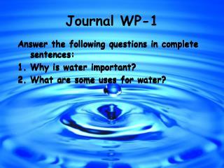 Journal WP-1
