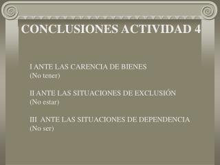 CONCLUSIONES ACTIVIDAD 4