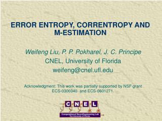 ERROR ENTROPY, CORRENTROPY AND M-ESTIMATION