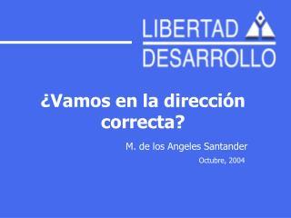 ¿Vamos en la dirección correcta? M. de los Angeles Santander Octubre, 2004