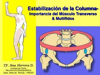 TF. Ana Herrera D. Unidad de Dolor                      Neuromusculoesquelético