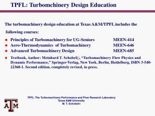 TPFL: Turbomchinery Design Education