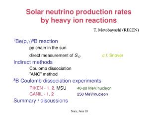 Solar neutrino production rates  by heavy ion reactions