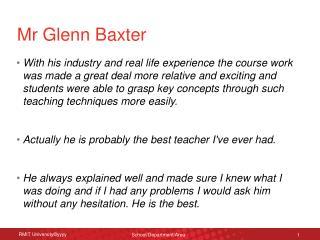 Mr Glenn Baxter