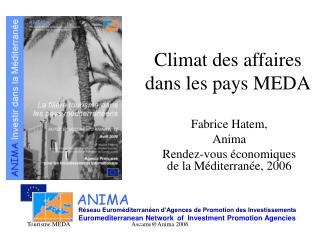 Climat des affaires dans les pays MEDA