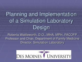 Planning and Implementation of a Simulation Laboratory Design
