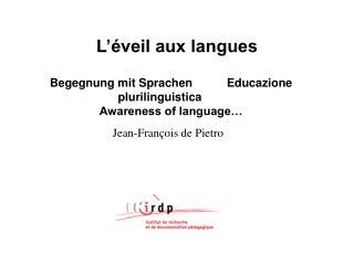 L  veil aux langues