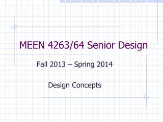 MEEN 4263/64 Senior Design