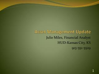 Asset  Management Update
