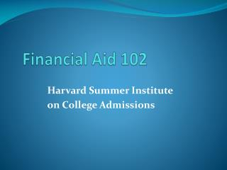 Financial Aid 102