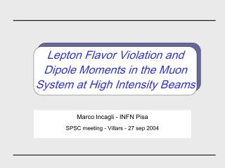Lepton Flavor Violation and Dipole Moments in the Muon System at High Intensity Beams