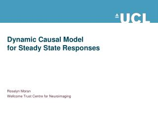 Dynamic Causal Model  for Steady State Responses