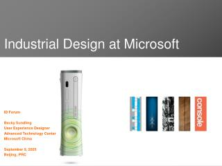 Industrial Design at Microsoft