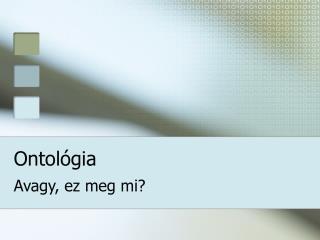 Ontológia
