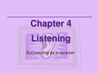 Chapter 4 Listening