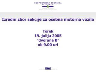 Izredni zbor sekcije za osebna motorna vozila