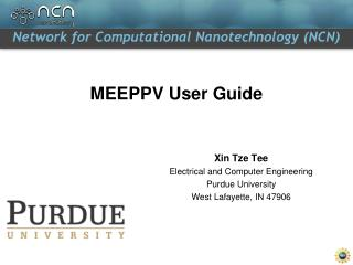 MEEPPV User Guide