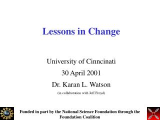 Lessons in Change