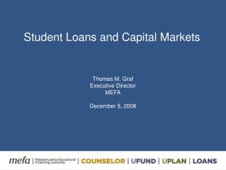 Student Loans and Capital Markets